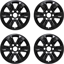 MARROW New Wheel Skins Covers Fits 2015-2020 Ford F-150; 17 Inch; 6 Spoke; Gloss Black; Plastic; Set of 4; Not Compatible with Steel Wheels