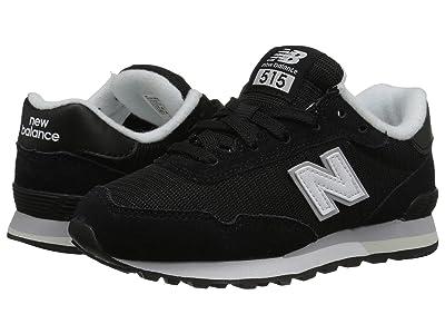 New Balance Kids YC515v1 (Little Kid/Big Kid) (Black/White) Boys Shoes