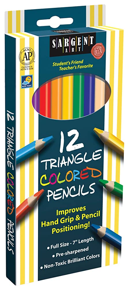 Sargent Art 22-7206 Triangle Colored Pencils, 12 Count