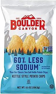 BOULDER CANYON CHIP REDUCED SODIUM 60% 6.5OZ