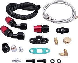 EVIL ENERGY Turbo Oil Return Drain Line Kit T3 T4 T04E T60 T61 T70 Black