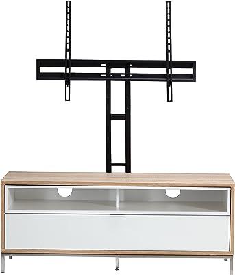 Chaplin Charcoal or Light Oak Tv Cabinet Stands (ADCH1135, White & Oak)