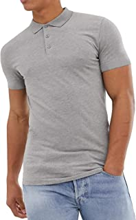 Pacinoble Mens Casual Regular-Fit Short Sleeve Cotton Pique Polo T-Shirts