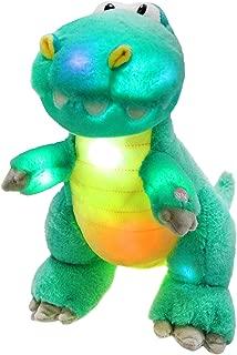 Houwsbaby LED Glowing Night Light Dinosaur Stuffed Animal Soft Plush Toy Hugging Kids Gift Decoration Halloween Christmas,12.5'' (Green)