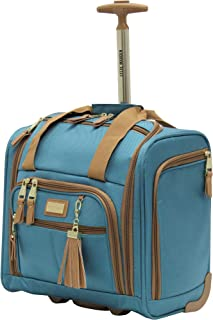 Steve Madden Luggage Wheeled Suitcase Under Seat Bag (Harlo Teal Blue)