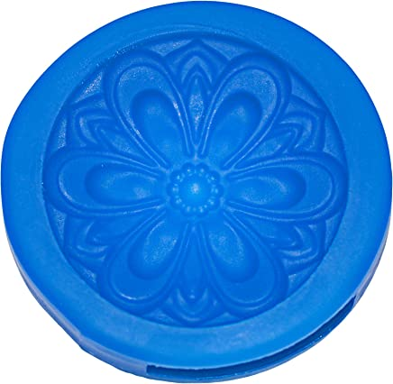 First Impressions Molds Stylized 6 Petal Modern Flower Detail #2 Silicone Mold Cupcake Topper, Blue