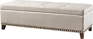 Christopher Knight Home 300794 Living Gisele Tufted Cover Beige Fabric Storage Ottoman