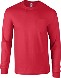 T Shirts for Men and Women   Pocket Long Sleeve   Sizes S - 2XL
