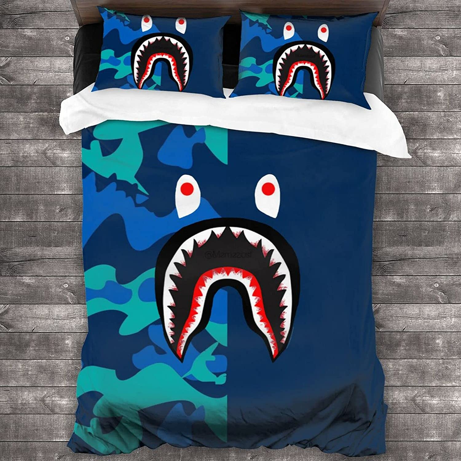 Bape Logo Bedding 3 Piece Twin Set Sale Special New item Price with Case 2 Pillow Comforter