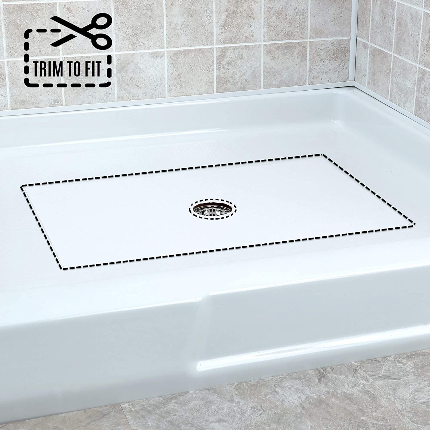 SlipX Solutions Non-Slip Cheap SALE Start New popularity Adhesive Shower Suction Mat No Cups