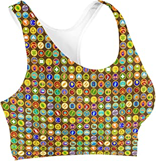 Rainbow Rules Wilderness Explorer Badges Disney Up Inspired Sports Bra