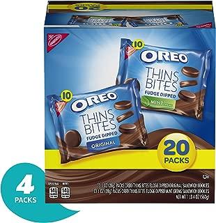 OREO Thin Bites Cookies Fudge Dipped Original & Mint Creme Multipack, 4 20oz. packages