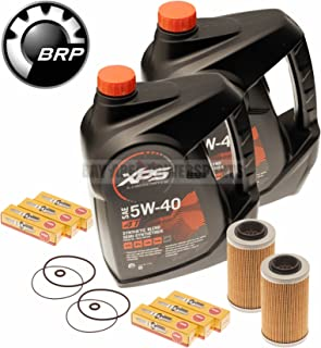 Sea Doo Oil Change Kit W/Filter O Rings & Spark Plugs 2 Pack 4-Tec GTI GTX GTS