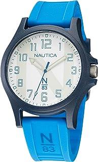 Nautica Men's Quartz Silicone Strap, Blue, 20 Casual Watch (Model: NAPJSLE25)