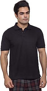 Santhome Basic DryNCool Cotton Polyester Blend Shirt Neck Polo For Men