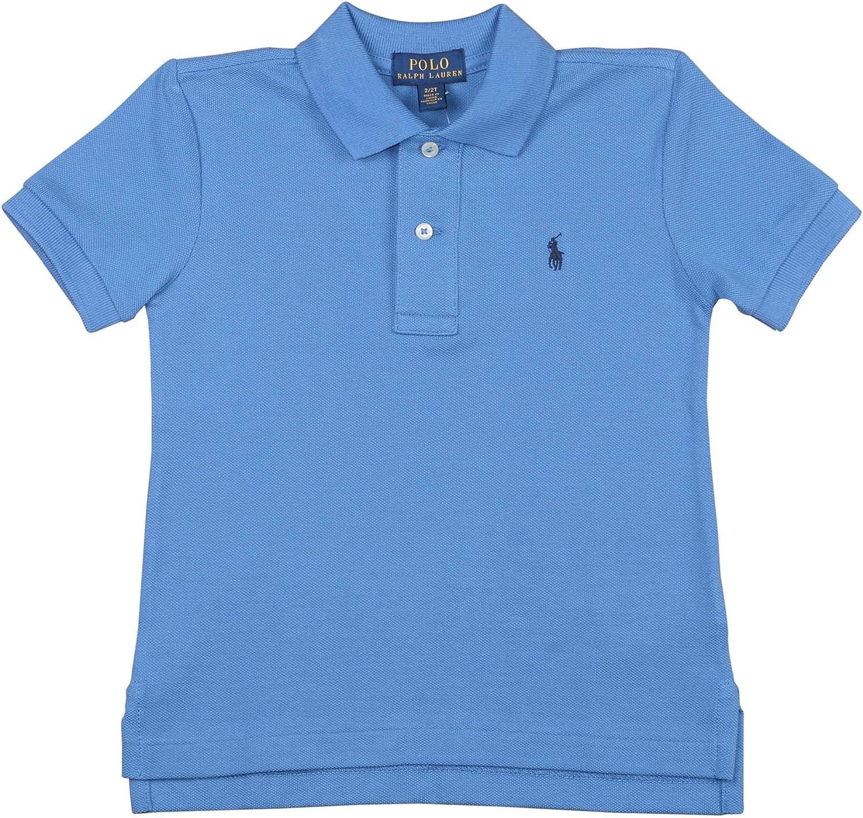 Polo Ralph Lauren Boys Toddlers Mesh Classic Polo Shirt Bright Blue (6)