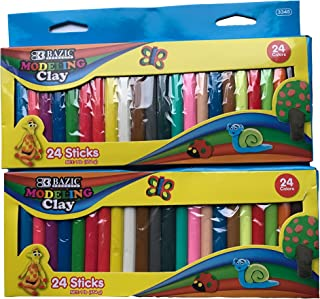 Modeling Clay Sticks 24 Colors   Reusable and Non-Drying Non-Harding for Easier 3D Projects for Arts and Crafts (2)