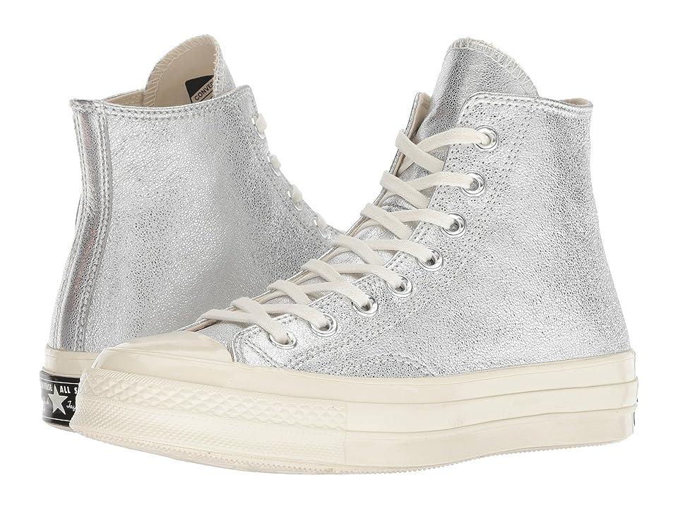 Converse Chuck 70 - Heavy Metals Hi (Silver/Silver/Egret) Women's Shoes