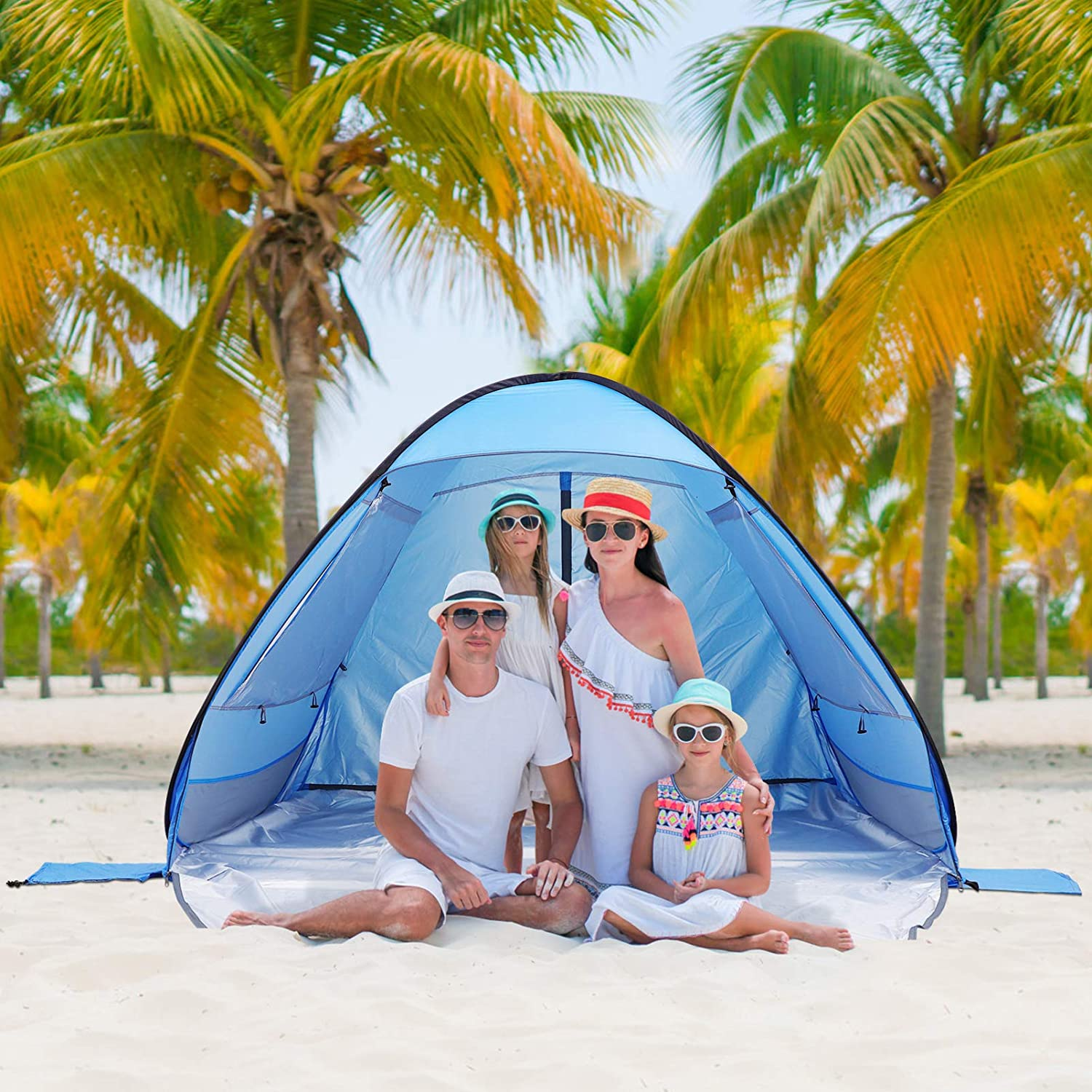 CLISPEED Pop Brand new Up Beach Tent Genuine Free Shipping Sun Person 3 with Shelter for