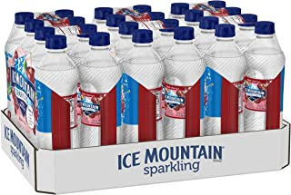 Ice Mountain Sparkling Water, Black Cherry, 16.9 fl. oz. Bottles (24 Ct) (Pack of 1)