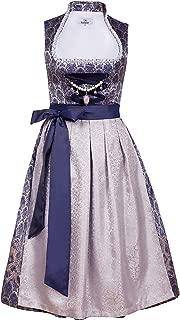 Edelnice Trachtenmode Bavarian Women's Designer Midi Dirndl Marianna Dress 2-Pieces + Apron Size US2-US24