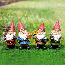 VAINECHAY Garden Gnomes Statues Outdoor Decor Garden Gnome Statue Funny Gnomes Decorations for Outside Yard Clearance Lawn...