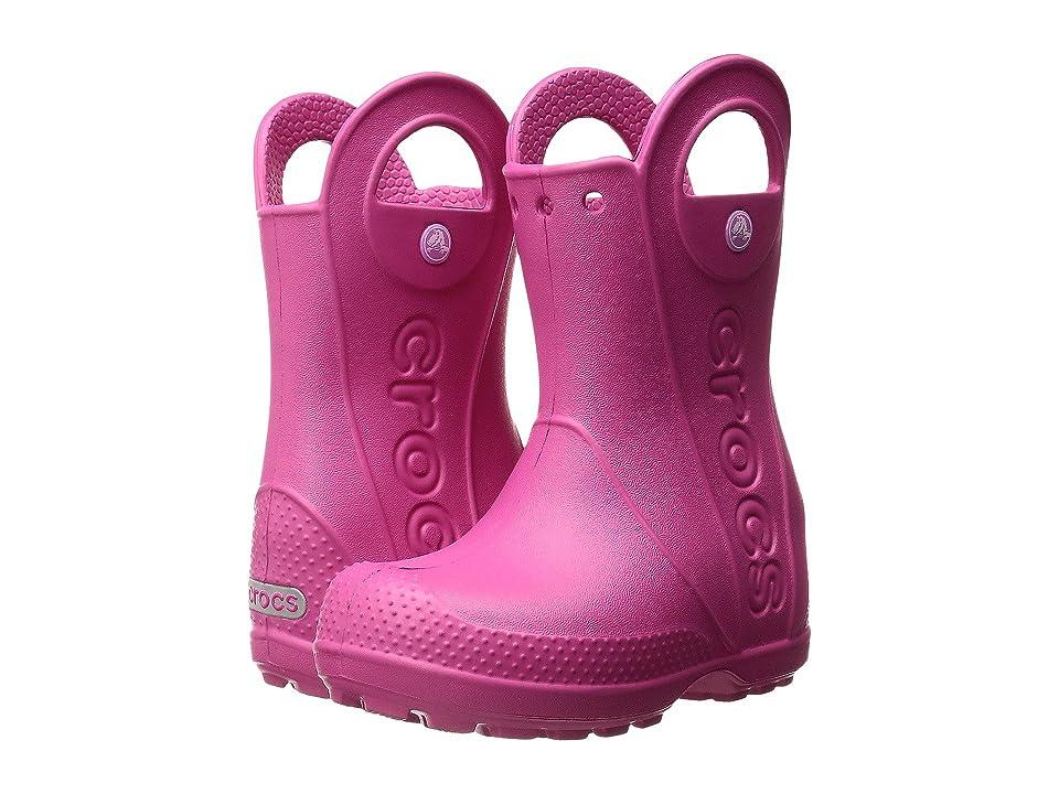 Crocs Kids Handle It Rain Boot (Toddler/Little Kid) (Candy Pink) Kids Shoes