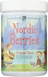 Nordic Naturals Nordic Berries, Citrus - 200 Gummy Berries - Great-Tasting Multivitamin for Ages 2+ - Growth, Development,...