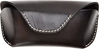 Unisex Semi Hard Genuine Leather Eyeglass Case With Belt Loop for Prescription Eyeglasses & Standard Sized Sunglasses