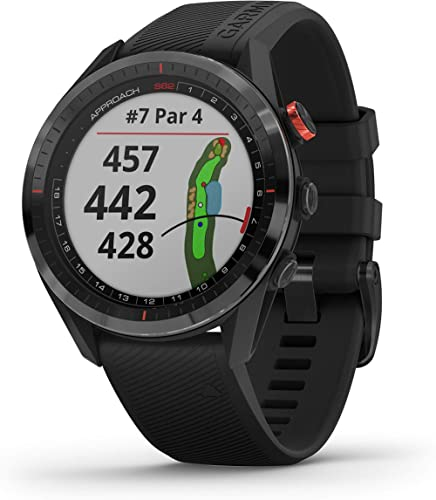 Garmin Approach S62, Premium Golf GPS Watch, Built-in Virtual Caddie, Mapping and Full Color Screen, Black (010-02200...