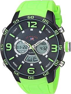 U.S. Polo Assn. Men's Silver Tone Analog-Quartz Watch...