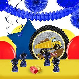 BirthdayExpress Construction Party Decorations - Balloon Table Decorating Kit