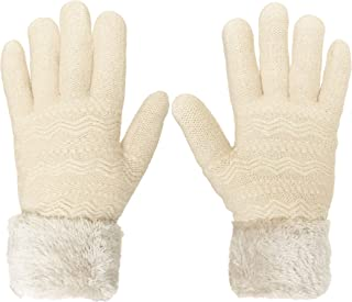 KMystic Women's Cold Weather Super Warm Thick Fleece Lined Gloves