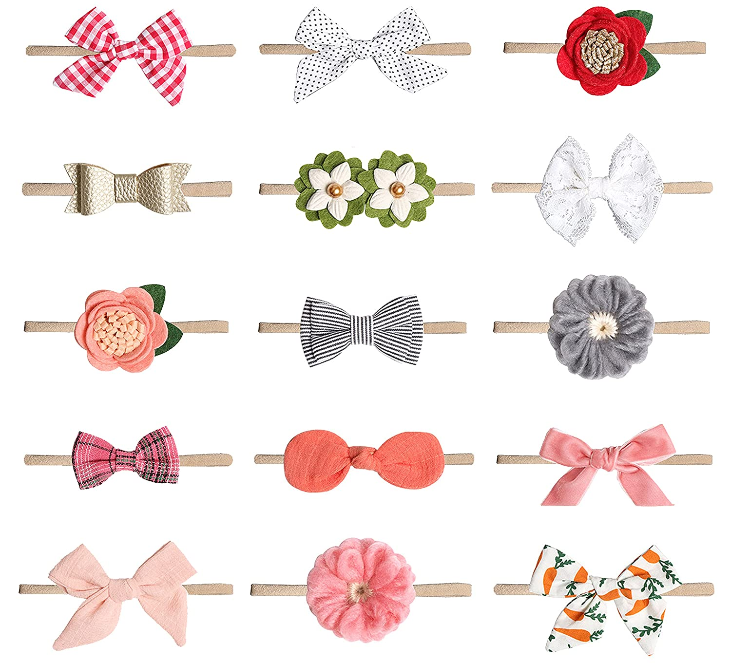 15PCS Baby Girls Headbands and Max 90% OFF Newborn Infant Bows Tod 67% OFF of fixed price Handmade