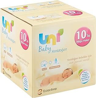Uni Baby Yenidoğan Islak Pamuk Mendil, 10'lu