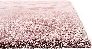 Homie Living I Moderner kuscheliger, weicher, Flauschiger Teppich - Läufer für Wohnzimmer, Flur, Schlafzimmer I Pisa I (70 x 140 cm, Rosa)
