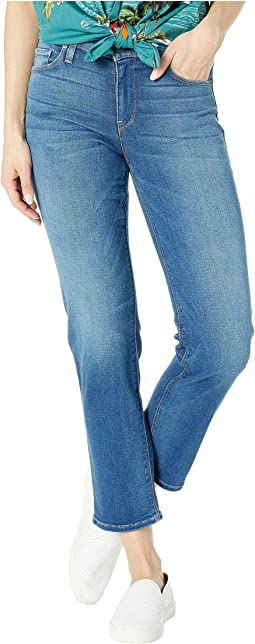 Nico Mid-Rise Cigarette Five-Pocket Jeans in Vision