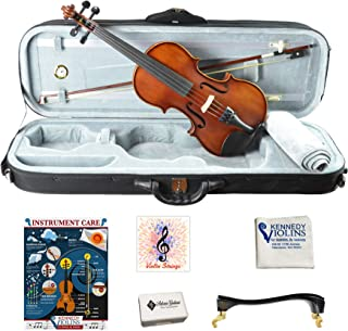LAGRIMA 4//4 Beginner Kid Violin Handcrafted Acoustic Violin Beginner Kit Bow and Rosin Light Natural Case Tuner
