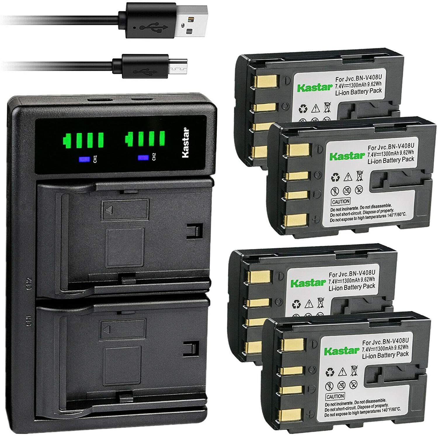 Kastar Tampa Mall 4-Pack Battery Reservation and LTD2 USB Charger for G Replacement JVC