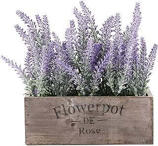 Azoco Artificial Lavender Flowers Potted Artificial Lavender Plants in Pot Fake Lavender Flowers Arrangements Centerpieces for Table Home Farmhouse Office Patio Décor