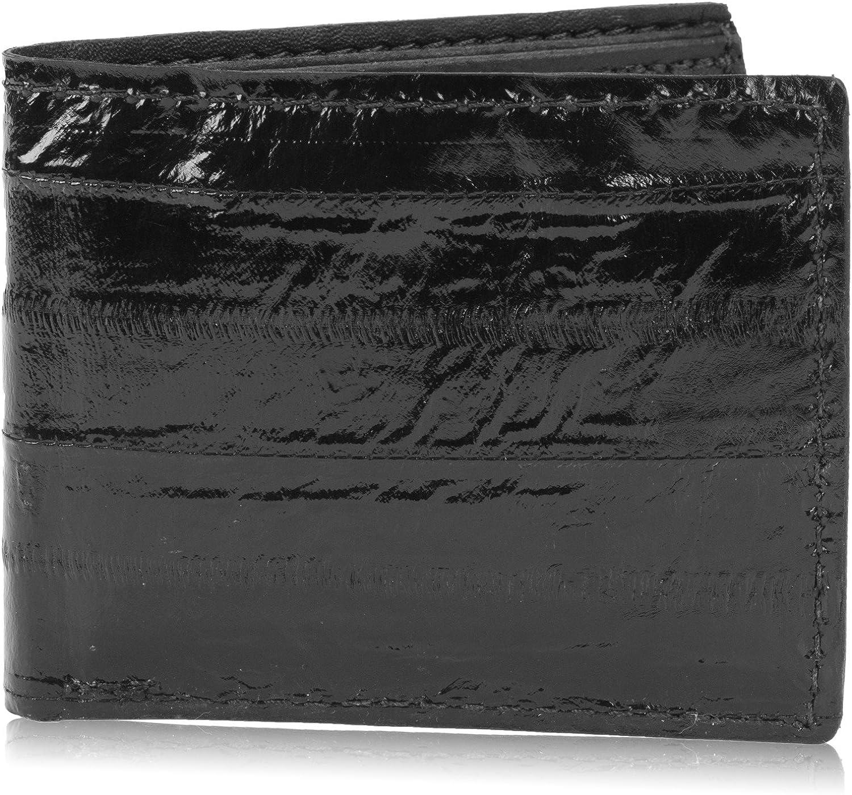 Genuine Pacific Eel Skin Leather Bifold Wallet Handmade