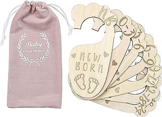 Premium Wood Baby Closet Dividers,Set of 7,from Newborn to 24 Month,Baby Closet Organizers,Nursery Decor,Baby Clothes Orga...
