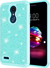 LG Harmony 2 Case, LG K10 2018 Case, LG K30 Case for Girls, Jeylly Bling Glitter Luxury Crystal Dual Layer Shock Absorbing Hard PC + Soft Silicone Inner Protector Case Cover - Turquoise