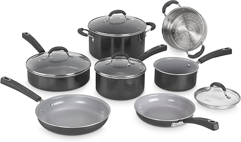 Cuisinart 54C 11BK Advantage Ceramica XT Cookware Set Medium Black