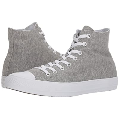 Converse Chuck Taylor(r) All Star(r) Essential Terry Hi (Gray/White/White) Shoes