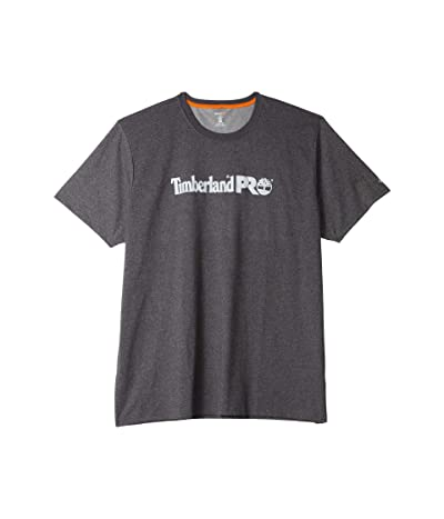 Timberland PRO Extended Base Plate Short Sleeve T-Shirt with Logo (Dark Charcoal Heather) Men