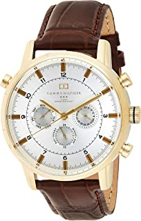 Tommy Hilfiger Men's Quartz Watch with Chronograph Quartz Leather 1790874