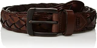 Men's Leather Braid Belt