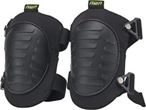 AWP Tactical Hard Cap Knee Pads   High Density Foam Padded Work Knee Pads   One Size