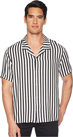 Clean Striped Short Sleeve Shirt